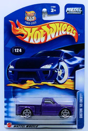 Custom '69 Chevy | Model Trucks | HW 2003 - Collector # 124/220 - Custom '69 Chevy - Metallic Purple - Blue Taillights - Thailand - USA '1968-2003 Anniversary' Card