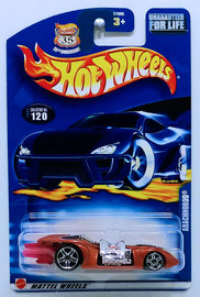Arachnorod | Model Cars | HW 2003 - Collector # 120/220 - Arachnorod - Metallic Copper - USA '35th Anniversary' Card