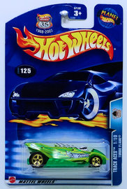 Turbo Flame | Model Cars | HW 2003 - Collector # 125/220 - Track Aces 1/10 - Turbo Flame - Green - USA '1968-2003 Anniversary' Card