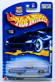 '63 Thunderbird | Model Cars | HW 2003 - Collector # 125/220 - Track Aces 1/10 - Turbo Flame - Green - USA '1968-2003 Anniversary' Card