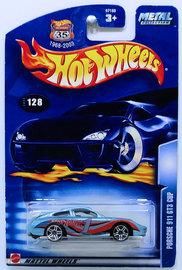 Porsche 911 GT3 Cup | Model Cars | HW 2003 - Collector # 128/220 - Porsche 911 GT3 Cup - Metallic Light Blue - USA '1968-2003 Anniversary' Card