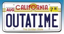 Back To The Futre OUTATIME License Plate Replica | License Plates