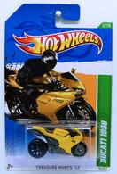 Ducati 1098 | Model Motorcycles | HW 2012 - Collector # 052 - Treasure Hunts 2/15 - DUCATI 1098 - Yellow - USA Card