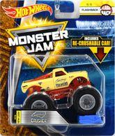 Carolina Crusher | Model Trucks | Hot Wheels Monster Jam Flashback Carolina Crusher with Re-Crushable Car