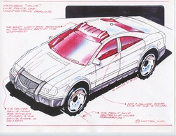 """Matchbox """"Value"""" Line Police Car Modifications Drawing 