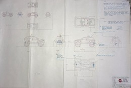 Matchbox L/C Baja Buggy Preliminary Drawing | Drawings & Paintings