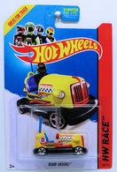 Bump Around | Model Racing Cars | HW 2014 - Collector # 166/250 - HW Race / Track Aces - Bump Around - Yellow - USA Card