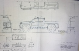 """Matchbox 2003 """"Low Cost"""" 4x4 Pickup Truck Preliminary Control Drawing 