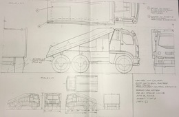 2003 Matchbox Flatbed Tow Truck Preliminary Control Drawing | Drawings & Paintings