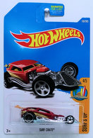 Surf Crate  | Model Cars | HW 2017 - Collector # 100/365 - Surf's Up 4/5 - Surf Crate - Metallic Red - USA Card - Error - PR5 Wheels on Rear!