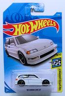 '90 Honda Civic EF   Model Cars   HW 2019 - Collector # 004/250 - HW Speed Graphics 8/10 - Super Treasure Hunts - '90 Honda Civic EF - White - USA Card