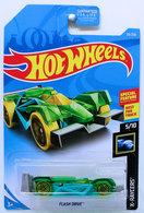 Flash Drive | Model Racing Cars | HW 2019 - Collector # 035/250 - X-Raycers 5/10 - Flash Drive - Green - USA Card