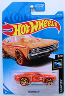'69 Chevelle | Model Cars | HW 2019 - Collector # 060/365 - X-Raycers 9/10 - Treasure Hunts - '69 Chevelle - Transparent Orange - USA Card