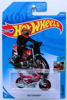 Tred Shredder | Model Motorcycles | HW 2019 - Collector # 038/250 - HW Moto 5/5 - Tred Shredder - Red - USA Card