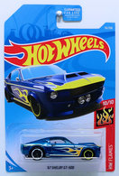 '67 Shelby GT-500 | Model Cars | HW 2019 - Collector # 033/250 - HW Flames 10/10 - '67 Shelby GT-500 - Blue - USA Card