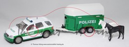 Mercedes-Benz ML With Police Horse Box Trailer W163 1997 | Model Vehicle Sets