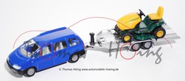 Volkswagen Sharan With Trailer And Riding Lawn Mower | Model Vehicle Sets