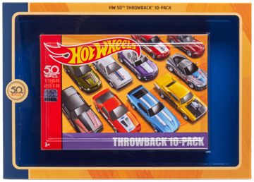 50th Anniversary Throwback 10-Pack | Model Vehicle Sets | 2018 Hot Wheels 50th Throwback 10-Pack