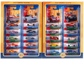 HW 50th Throwback Collection | Model Vehicle Sets | 2018 Hot Wheels 50th Throwback Collection