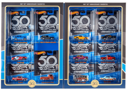 HW 50th Anniversary Favorites | Model Vehicle Sets | 2018 Hot Wheels 50th Anniversary Favorites