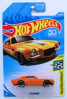 '70 Camaro | Model Cars | HW 2018 - Collector # 346/365 - HW Speed Graphics 7/10 - '70 Camaro - Orange - USA 50th Card - ERROR! NO Side Tampos!