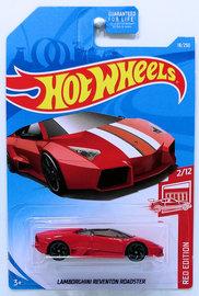 Lamborghini Reventon Roadster | Model Cars | HW 2019 - Collector # 018/250 - Red Edition 02/12 - Lamborghini Reventon Roadster - Red - USA Card - Target Exclusive