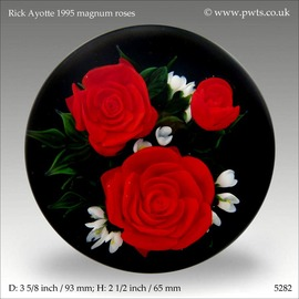 Rick Ayotte Magnum Roses Paperweight | Paperweights