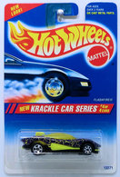 Flashfire     | Model Cars | HW 1995 - Collector # 284 - Krackle Car Series 4/4 - Flashfire - Purple - Purple Motor - Red Hot Wheels Logo - 7 Spokes on Front & 5 Spokes on Rear - USA Blue & White Card