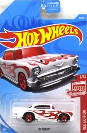 '57 Chevy | Model Cars | Hot Wheels 57 Chevy Red Edition white
