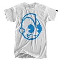 Kidrobot Blue Signature Bothead White T-Shirt | Shirts & Jackets