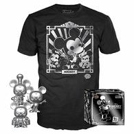 Mickey Mouse (Steamboat Willie, Apprentice, Conductor) (Silver 3-Pack) and Silver Mickey Tee | Shirts & Jackets