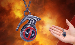 Deadpool Grenade Necklace   Whatever Else