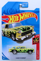 Classic '55 Nomad | Model Cars | HW 2018 - KMart Exclusive - HW Flames 6/10 - Classic '55 Nomad - Pale Yellow - USA Card
