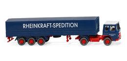 Rheinkraft-Spedition - MAN Flatbed Tractor-Trailer With Tarp | Model Trucks