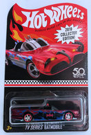 TV Series Batmobile | Model Cars | HW 2018 - Collector Edition # FKF92 - TV Series Batmobile - Metallic Red - KMart Exclusive Mail-In