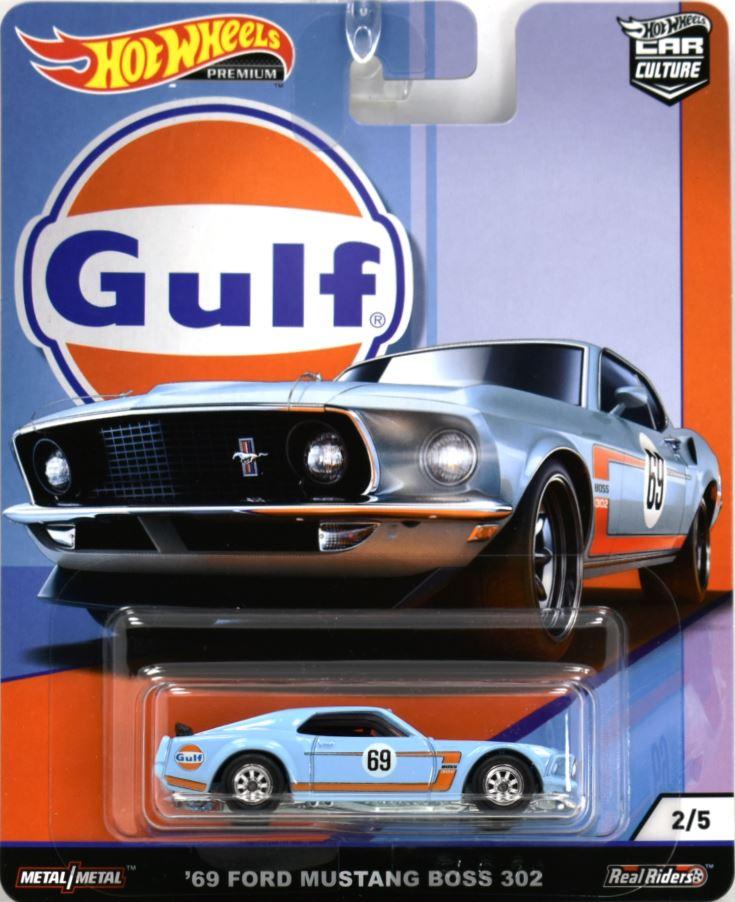 2019 HOT WHEELS car culture /'/'GULF OIL/'/' = `69 FORD MUSTANG BOSS 302  = BLUE