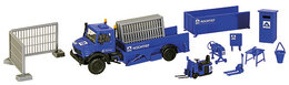 Hochtief - Unimog Truck Plastic Model Kit With Accessories | Model Truck Kits