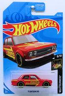 '71 Datsun 510 | Model Cars | HW 2019 - Collector # 097/250 - Nightburnerz 8/10 - '71 Datsun 510 - Red - USA Card