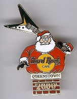 Santa with flying V Guitar | Pins & Badges