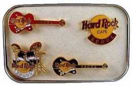 Boxed set of 4 mini pins %2528logo and drums and 2 gtrs%2529 pins and badges a2eaa64a eacc 4e3f acc4 a63b30f86cfb medium