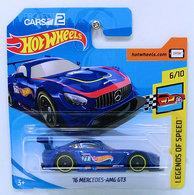 '16 Mercedes-AMG GT3 | Model Racing Cars | HW 2018 - Collector # 196/365 - Legends of Speed 6/10 - '16 Mercedes-AMG GT3 - Blue - International Short Card