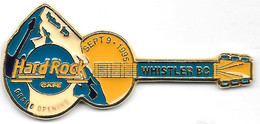 Yellow guitar with blue and white mountain pins and badges b15df461 a964 4e7b bc2a 26819bf1e347 medium