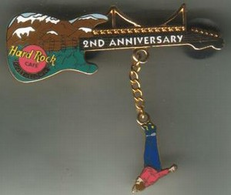 2nd Anniversary Guitar | Pins & Badges