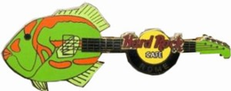 European fish guitar series   green fish w orange pins and badges daf3e40f 1074 4862 952b f641c5a9d12d medium