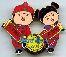 Chinese boy & girl in red outfits holding scrolls | Pins & Badges