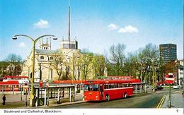 Boulevard and Cathedral Blackburn | Postcards | Blackburn