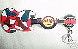 Punk guitar with dangling anarchy logo pins and badges d8311263 d8e6 43f1 9c7a dcb3813e74bb medium