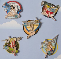 Bombers N' Babes World War II Set | Pins & Badges