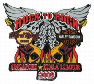 13 annual KL to Singapore Harley Davidson Ride   Pins & Badges