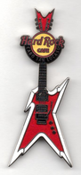 Red and White Guitar | Pins & Badges